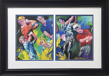 "LeRoy Neiman ""Golf Winners"" Custom FRAMED Art Print Arnold Palmer Jack Nicklaus"