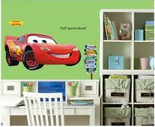 Murals Movie CARS Wall Stickers Lightning McQueen Kids Room Decor Decals