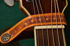 Cabezal De Guitarra Eléctrica Acústica De Cuero O Correa Atar Gancho Botón Reino Unido
