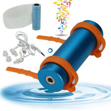 Blue Swimming Diving Water Waterproof MP3 Player FM Radio Earphone 4GB NEW