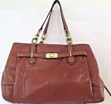"COACH CHELSEA ""Jayden"" Cognac Brown Leather Shoulder Shopper Tote Carryall 17811"