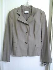 Akris Punto 10 Light Gray 100% Wool Jacket Blazer Switzerland --Mint!