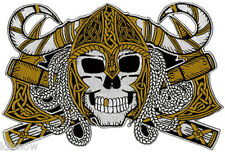 "Viking Skull Embroidered Back Patch 20cm x 13cm (7 3/4"" x 5 1/4"")"