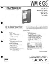 Sony Original Service Manual für WM-GX 35