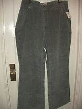 Womans Faded Glory Gray Grey Corduroy Pants with STRETCH Size 24 NEW