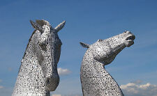 Framed Print - The Kelpies at The Helix Scotland (Picture Poster Photo Art)