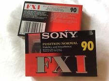 2 X SONY FX  C90 NEW STILL SEALED BLANK CASSETTES POSITION: NORMAL