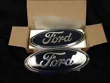 NEW 2007 Ford F150 Front Grille and Tailgate Dark Blue  2 pc set/9 inch Emblems