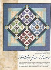 I373  TABLE FOR FOUR  QUILT PATTERN/INSTRUCTIONS