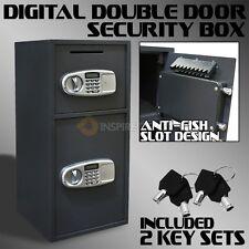 Digital Safe Double Door Drop Depository Cash Box Security Safe Anti Fish Slot