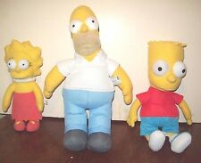GORGEOUS CLEAN SIMPSON'S FAMILY HOMER, BART & LISA PLUSH TOYS, VERY GOOD COND.