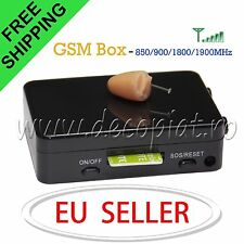 Spy Earpiece Invisible GSM Bluetooth Box Hidden Micro Wireless Earphone Covert