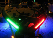 "Starboard&Port Sideligth Boat Bow LED Lighting RED&GREEN 12"" Submersible Marine"