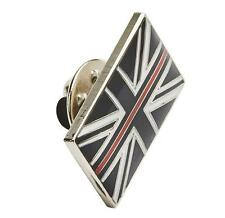 THIN RED LINE UK FIREMAN FIREMEN FIREFIGHTER MOURNING BAND RESIN PIN TIE BADGE