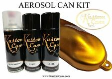 CANDY GOLD AEROSOL CAN KIT - SCOOTER, BIKE,  PEARL, CHOPPER, CUSTOM PAINT, FLAKE