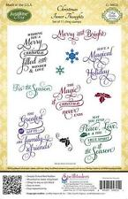 Just Rite Christmas Inner Thoughts 11 Cling Christmas Stamps Spellbinders