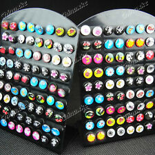 Wholesale Jewelry Lots 72pcs Mixed Resin Stainless Steel Fashion Stud Earrings