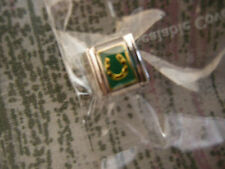 ESSENZA  CHARM - LINKS TOGETHER MAKES A BRACELET - NEW  GREEN GOLD HORSE SHOE