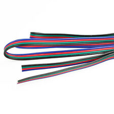 2m 4-PIN 22AWG RGB Extension Wire Cable Cord for 3528 5050 RGB LED Strip US