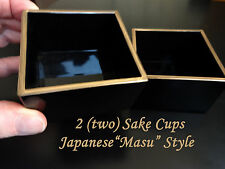 """2!! Drink SAKE the """"real"""" authentic way as done in Japan / Lacquer Masu Cup"""