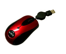 USB Mini 3-Button Optical Mouse Wired/Retractable Cable Cord Travel Mouse Mice R