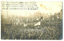 Russian Revolution Navy Sailors and Soldiers Demonstration Real Photo Revel 1917