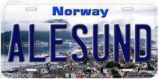 Alesund Norway Car Auto Tag Novelty License Plate P01
