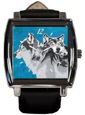 Wolf Wrist Watch - Vegan Watch - Comes in Tin - From My Painting, Spirited Pack