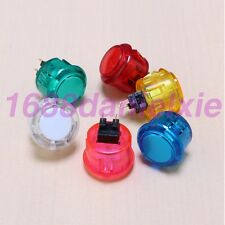 6x OEM 30mm Crystal Push Button Replaced For Arcade Sanwa OBSF-30 Buttons Jamma