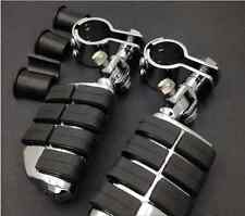 """High Quality Highway Footrest Clamps 1"""" ~ 1 1/4"""" Foot Pegs Chopper Motorcycle"""
