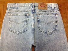 LEVIS 505 ACID WASHED VINTAGE USA JEANS ACTUAL 35 x 34 Tag 36 x 34 EUC BEST S37