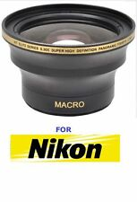 55MM UHD .30X EXTREME SPORTS FISHEYE LENS + MACRO LENS FOR NIKON D3400 DSLR