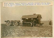 PHOTO PRESSE Branger 180715 - Guerre front anglais tracteur transport de canon