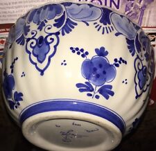 VINTAGE SIGNED DE PORCELEYNE FLES DUTCH DELFT OCTAGONAL FRUIT/SERVING BOWL��