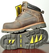 Safety boot with Steel toe, EH, Oil resistant sole size 8