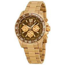Invicta Signature II Chronograph Brown Dial Rose Gold-tone Mens Watch 7411