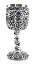 Silver Royal Dragon Wine Goblet Skulls Medieval Collectible Home Decor Gift