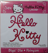 Hello Kitty Phrase with small Heart  Sizzix   BigZ, Big Kick  Cutting Die   NIP