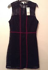 New With Tags �� Next ��Size 12 Black Red Lace Floral Shift Dress