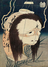 The Lantern Ghost, Iwa Katsushika Hokusai Japan Geist Laterne Lampion B A3 02761