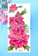 large flower temporary tattoo sticker temporary body tattoo