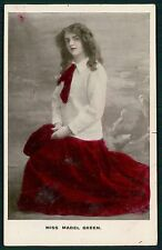 Mabel Green Theater Edwardian Lady original 1910s photo postcard
