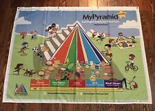 "Food Pyramid Healthy Eating Banner 63"" X 48"" Teaching Aid  mypyramid.gov"