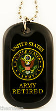 ARMY RETIRED ENGRAVABLE MILITARY WAR REGULATION  DOG TAG