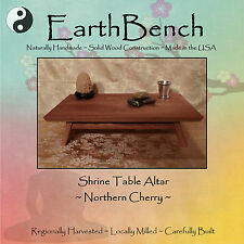 Small Table SHRINE ALTAR by EarthBench: Solid CHERRY  ~ for Meditation & Prayer