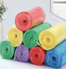 1-Roll(25pcs) Rubbish Garbage Kitchen Toilet Clean-up Waste Trash Bags New