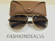 RayBan Authentic Aviator Matte Gold/Havana 59mm RB3457 112/13 Sunglasses