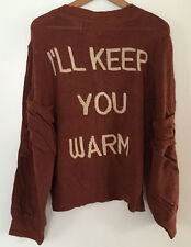 "Wildfox Couture ""I Keep You Warm"" Bonfire Cardigan, Coconut Shell Color, Size S"