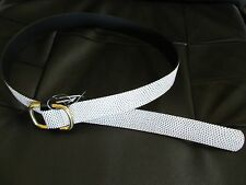 NWT J.Crew SPOTTED LEATHER BELT IN Black White USA XS S Small a3163 $58 SP'14
