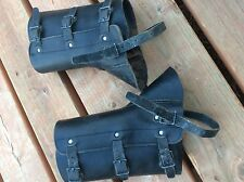 LEATHER Military Surplus, Army Gators, Leg Protection, Camping Hiking Survival